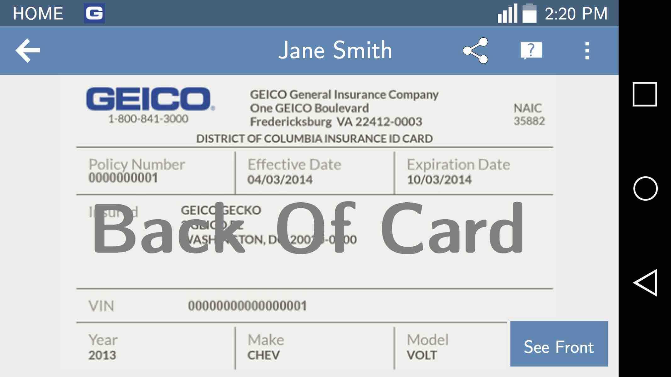Geico Login Id Card | Cardbk.co